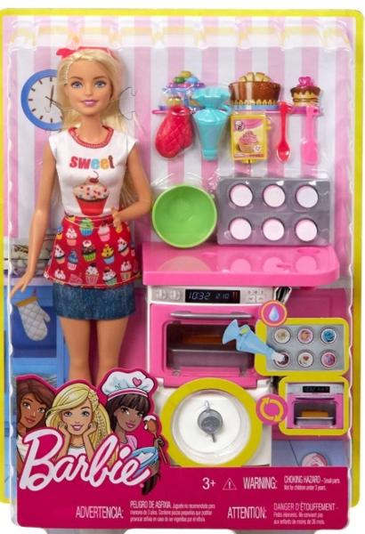 Mattel Barbie Domowe Wypieki Zestaw Lalka Fhp57