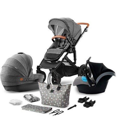 Kinderkraft Prime Wózek Głęboko-Spacerowy 3w1 + Mommy Bag